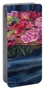 Fabric And Flowers Portable Battery Charger