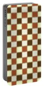 Fabric Design Mushroom Checkerboard Abstract #2 Portable Battery Charger
