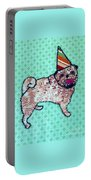 Fabric Pug Portable Battery Charger