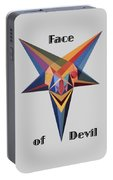 Face Of Devil Text Portable Battery Charger