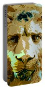 Face Of The Lion Portable Battery Charger