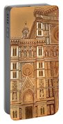 Faced Of Florence Cathedral  Portable Battery Charger