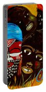 Faces Of Africa Portable Battery Charger
