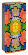 Facing Realities Abstract Hard Candy Art By Omashte Portable Battery Charger