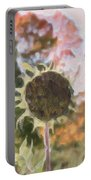Faded Flower Portable Battery Charger
