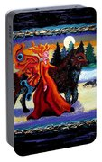 Faerie And Wolf Portable Battery Charger