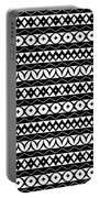 Fair Isle Black And White Portable Battery Charger