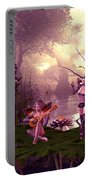Fairies At A Pond Portable Battery Charger