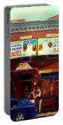 Fairmount Bagel By Montreal Streetscene Painter Carole  Spandau Portable Battery Charger