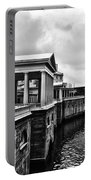 Fairmount Water Works In Black And White Portable Battery Charger