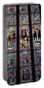 Faith In Stained Glass  Portable Battery Charger