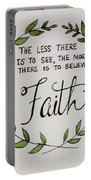 Faith Laurel Wreath Portable Battery Charger