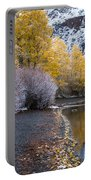 Fall And Winter At Silver Lake Portable Battery Charger