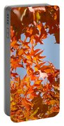Fall Art Prints Orange Autumn Leaves Baslee Troutman Portable Battery Charger