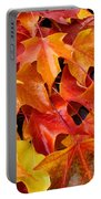 Fall Art Prints Red Orange Yellow Autumn Leaves Baslee Troutman Portable Battery Charger