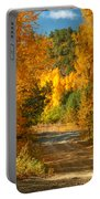 Fall Aspen Trail Portable Battery Charger