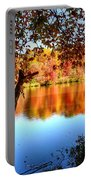 Fall At Lake Portable Battery Charger