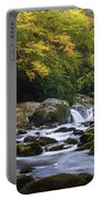 Fall At Midnight Hole Portable Battery Charger