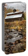 Fall Barn  Portable Battery Charger