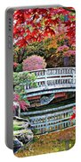 Fall Bridge In Manito Park Portable Battery Charger by Carol Groenen