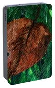 Fall Brown Leaf Portable Battery Charger