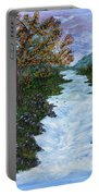 Fall By The River Portable Battery Charger