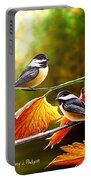 Fall Chickadees Portable Battery Charger
