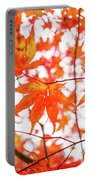 Fall Color Maple Leaves At The Forest In Kumamoto, Japan Portable Battery Charger