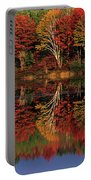 Fall Color Reflected In Thornton Lake Michigan Portable Battery Charger