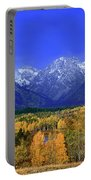 Fall Colored Aspens Grand Tetons Np Portable Battery Charger