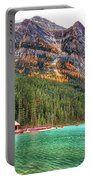 Fall Colors At Lake Louise Alberta  Portable Battery Charger