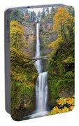 Fall Colors At Multnomah Falls Portable Battery Charger