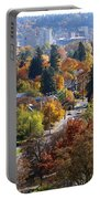 Fall Colors In Spokane From The Post Street Hill Portable Battery Charger