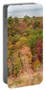 Fall Colors On Hillside Portable Battery Charger