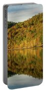 Fall Colors On Lake Reflection Portable Battery Charger