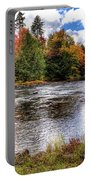 Fall Colors On The Moose River Portable Battery Charger