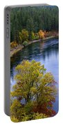 Fall Colors On The River Portable Battery Charger