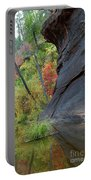Fall Colors Peek Around Mountain Vertical Portable Battery Charger