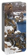 Fall Creek Falls In Winter Portable Battery Charger
