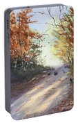 Fall Early Morning Portable Battery Charger