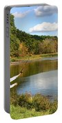 Fall Fishing Portable Battery Charger by Kristin Elmquist