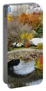 Fall Foliage In Central Park Portable Battery Charger