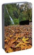 Fall Foliage At Horsetail Falls Portable Battery Charger