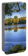 Fall Foliage At Turners Pond In Milton Massachusetts Portable Battery Charger