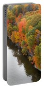 Fall Foliage In Hudson River 10 Portable Battery Charger