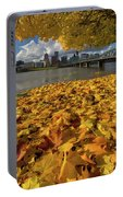 Fall Foliage In Portland Oregon City Portable Battery Charger