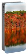 Fall Foliage Reflection Kennebec River Hallowell Portable Battery Charger