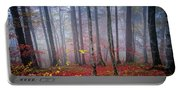 Fall Forest In Fog Portable Battery Charger