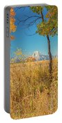 Fall From Oxbow Bend In Grand Tetons Portable Battery Charger