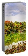 Fall In Central Park Portable Battery Charger